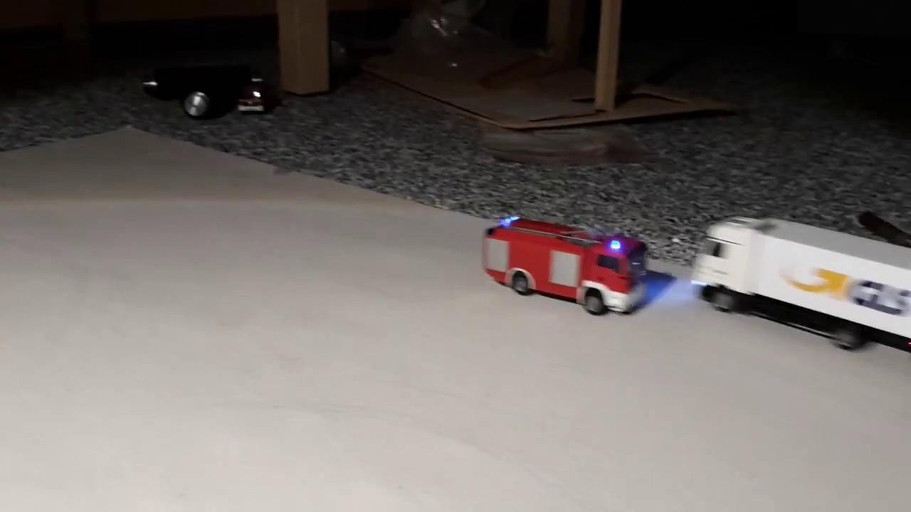 Faller Car System Feuerwehr Feuerwehr 2000 MAN Licht + Sound und GLS ...