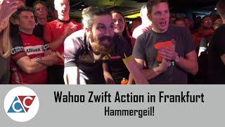 Wahoo Zwift Action in Frankfurt