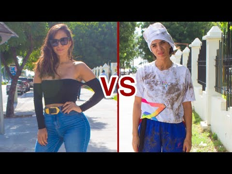 MUJER SEXY por iPhone X vs. CHICA NECESITADA por comida (Experimento Social)