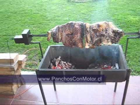 Pancho con motor parrilla con motor parrilla electrica - Como hacer un asador ...