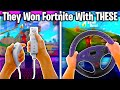 10 Fortnite Players THAT WON WITH INSANE CONTROLLERS!