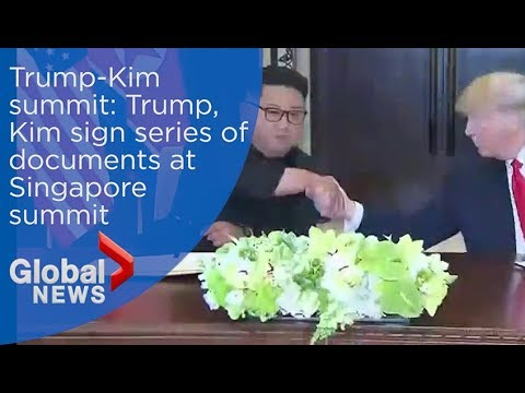 Trump-Kim summit: 'The world will see a major change' Kim, Trump sign documents