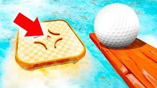 КАК ПОПАСТЬ ОГРОМНЫМ МЯЧОМ В САМУЮ МАЛЕНЬКУЮ ЛУНКУ? ГОЛЬФ С МОДАМИ В ГОЛЬФ ИТ (Golf It)