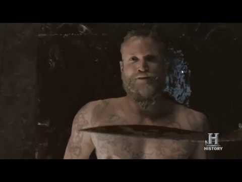The Vikings Leif Death (Sacrifice Scene)