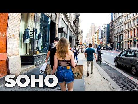 ⁴ᴷ⁶⁰ Walking NYC (Narrated) : SoHo, Manhattan (July 10, 2019)