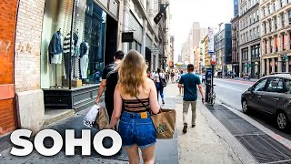 ⁴ᴷ⁶⁰ Walking NYC (Narrated) : SoHo, Manhattan (July 10, 2019)
