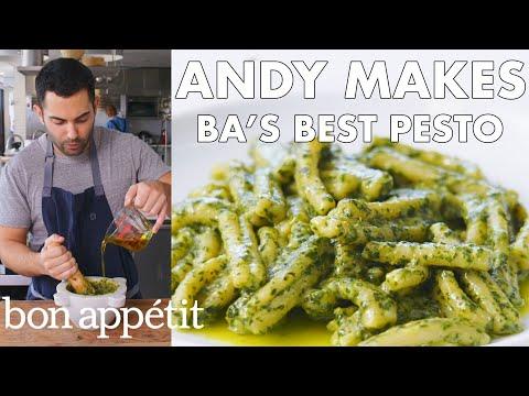 Andy Makes BA's Best Pesto | From the Test Kitchen | Bon Apptit