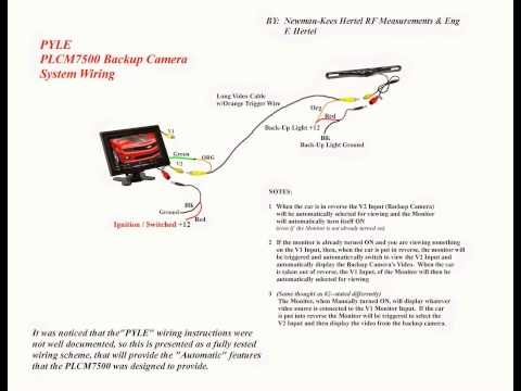 pyle backup camera wiring diagram pyle image pyle plcm7500 wiring on pyle backup camera wiring diagram