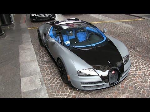 Bugatti Veyron BLUE Interior!  Matte Gray/Carbon Fiber Vitesse in Beverly Hills!