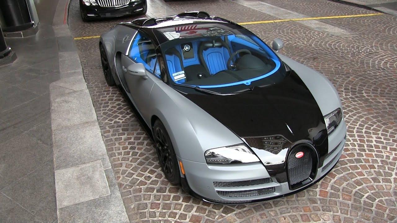Bugatti Veyron Blue Interior Matte Gray Carbon Fiber