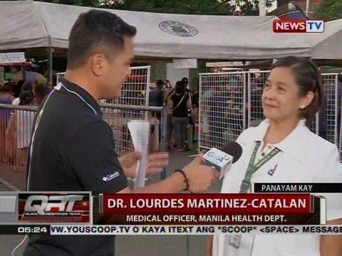 Panayam kay Dr. Lourdes Martinez-Catalan, Medical Officer, Manila Health Dept.