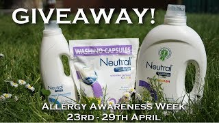 Giveaway! | Neutral 0% for Allergy Awareness Week | Ad