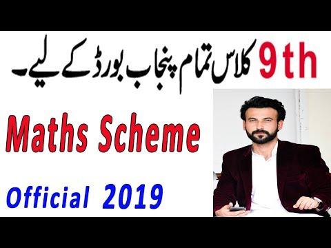 9th Class Maths Paper Pairing Scheme 2019 - 9th Class Math Guess Paper 2019