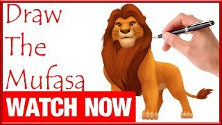 How To Draw The Mufasa - Learn To Draw - Art Space