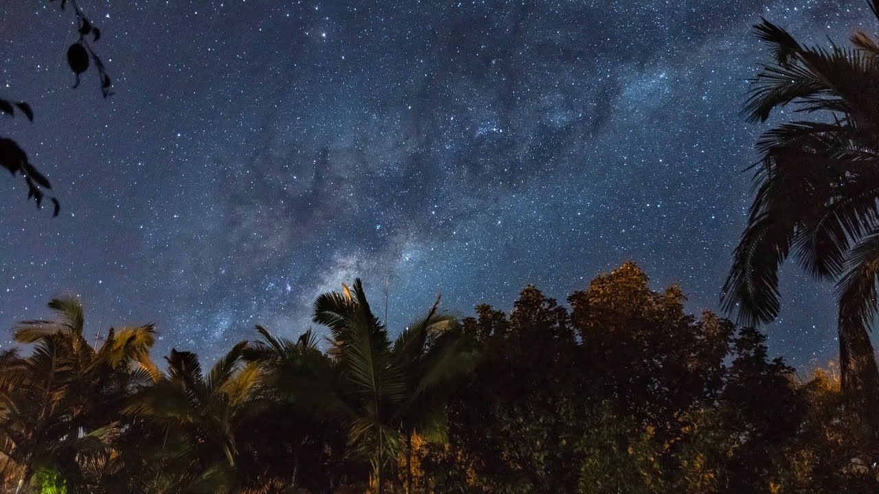 The Milky Way Healing Source Starry Sky | with Instrumental Music | No Copyright