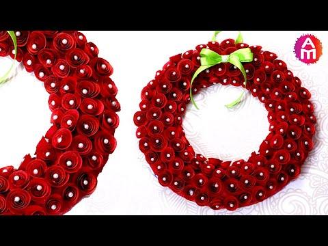 Cutest Christmas Wreath | Paper Crafts | DIY Christmas Decorations | Artsy Madhu 47
