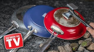 As Seen On TV Frying Pans TESTED! (Red Copper, Blue Diamond, GraniteRock)