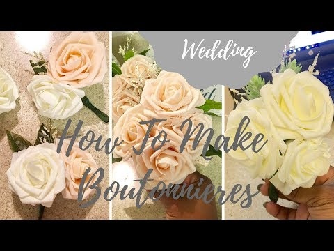 how-to-make-faux-flower-boutonnieres- -grooms,-parents,-hostesses