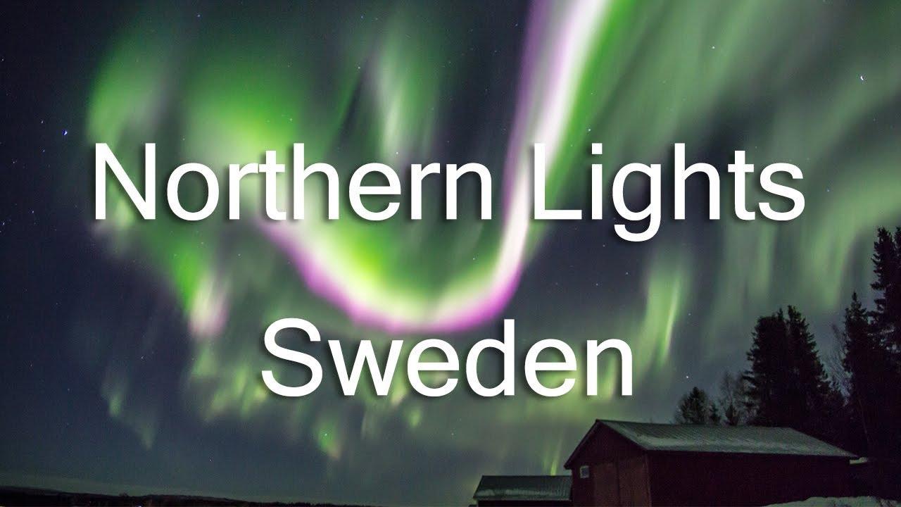 northern lights above kiruna real time hd youtube