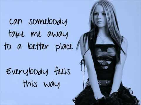 Everybody Hurts - Avril Lavigne - Lyrics (HD)