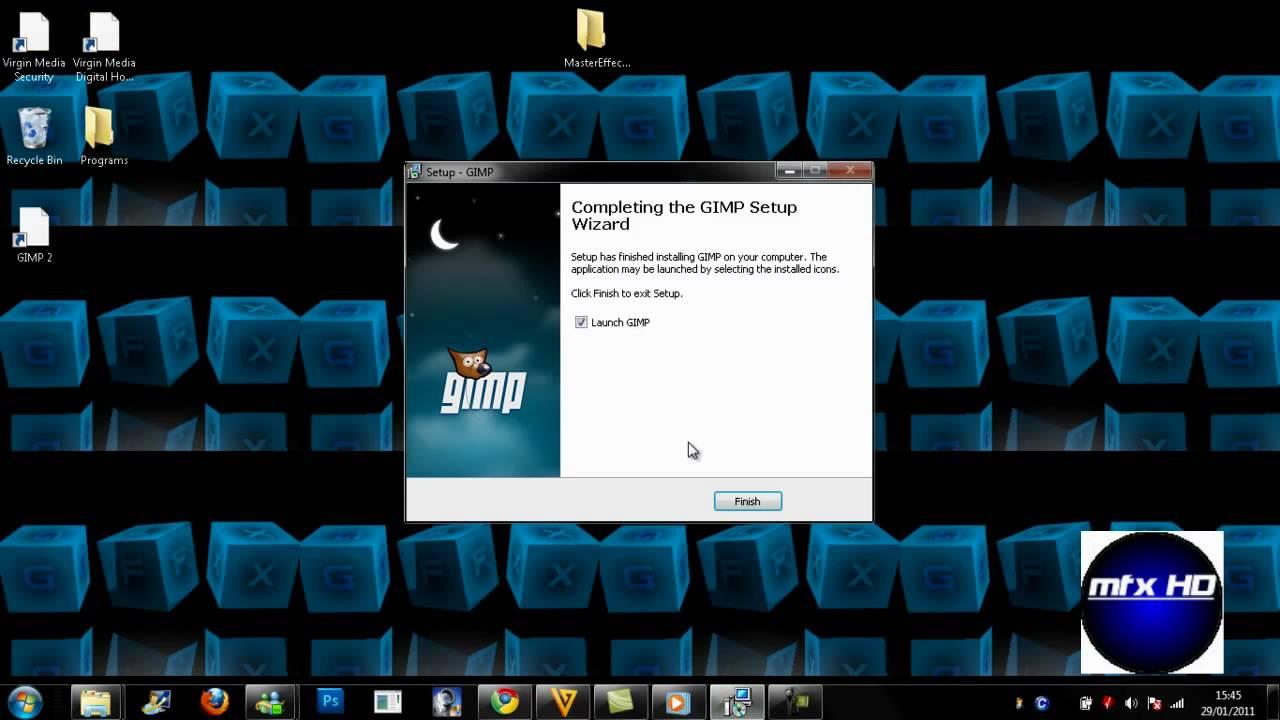GIMP is free, image manipulation, desktop application software