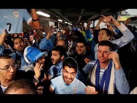 asi celebraron los uruguayos en brasil