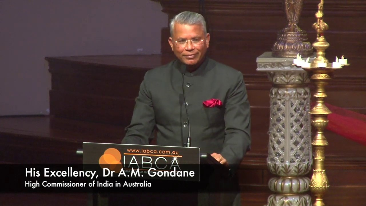 IABCA 2018- Thank you to the High Commissioner of India in Australia, His Excellency, Dr A.M Gondane