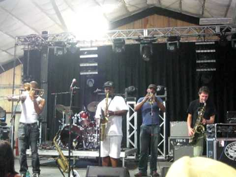 Skerik, Karl Denson, Chris Littlefield, & Trombone Shorty Jamming at High Sierra 2010