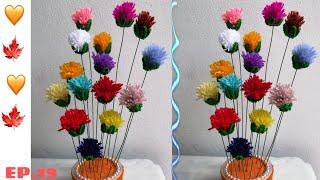 Cover images ดอกไม้ จากไหมพรม |  DIY  |  งาน ประดิษฐ์ |  น้องน้ำ&แม่จา  |  ♥️