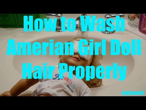 How To: Wash American Girl Doll Hair⎢Curly Or Straight⎢kateisme45