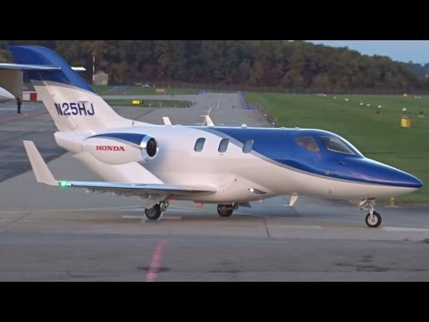 [FullHD] Private Honda HA-420 HondaJet takeoff at Geneva/GVA/LSGG