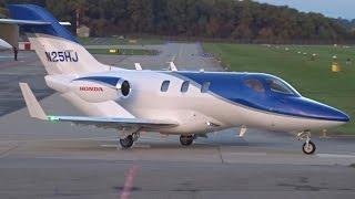 [FullHD] Private Honda HA-420 HondaJet takeoff at Geneva/GVA/LSGG