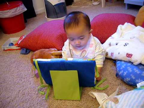 Baby using his laptop