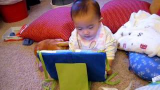 Baby using his laptop