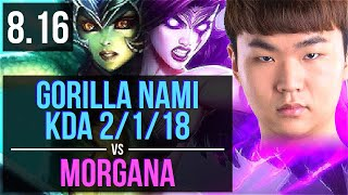 KZ GorillA - NAMI vs MORGANA (SUPPORT) ~ KDA 2/1/18 ~ Korea Challenger ~ Patch 8.16