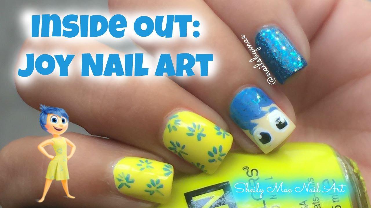 Inside Out Nail Art: Joy - YouTube