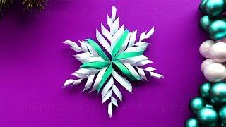 Basteln für Weihnachten: Schneeflocken aus Papier als Weihnachtsdeko selber machen ❄