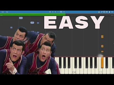 How to play We Are Number One - EASY Piano Lesson /  Tutorial - SLOW