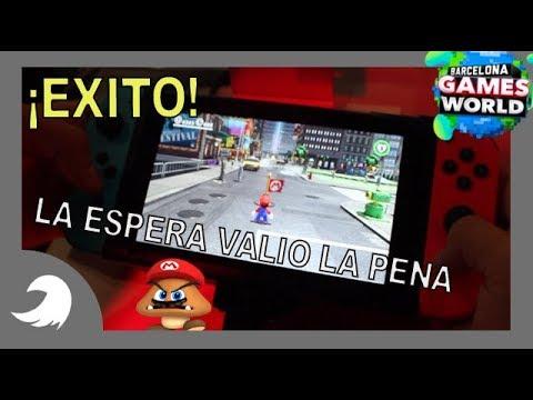 ¡¡EL MEJOR JUEGO DEL SIGLO!! Mario Odyssey en Nintendo Switch - Primeras impresiones - BGW 2017