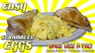 The Best Fluffy Scrambled Eggs Recipe In Just A Minute !