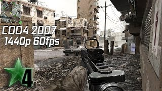 COD4 PC Multiplayer 2018 1440p 60fps Gameplay (Crossfire)