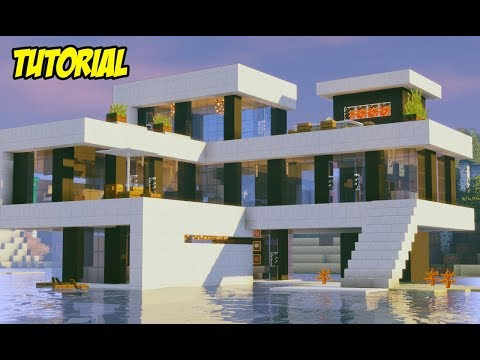 Minecraft Tutorial | MANSÃO MODERNA NO SURVIVAL | MANYACRAFT