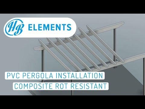 PVC Pergola Installation - Composite Rot Resistant