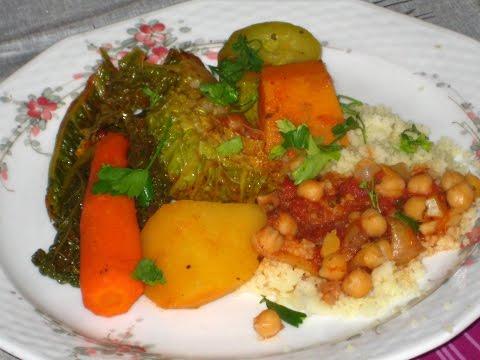 Арабский кускус с овощами (веганское блюдо)