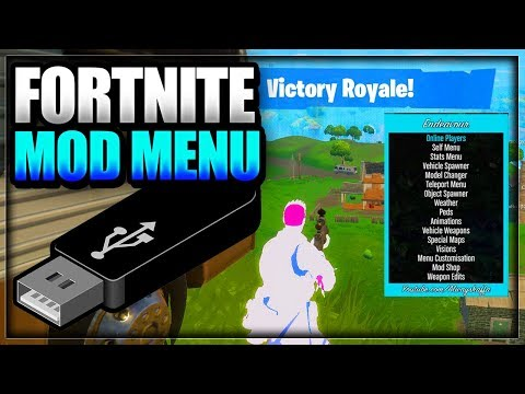 Fortnite: Battle Royale USB Mod Menu On PC Xbox One & PS4 - WORKING Fortnite Mod Menu Trolling/Hacks