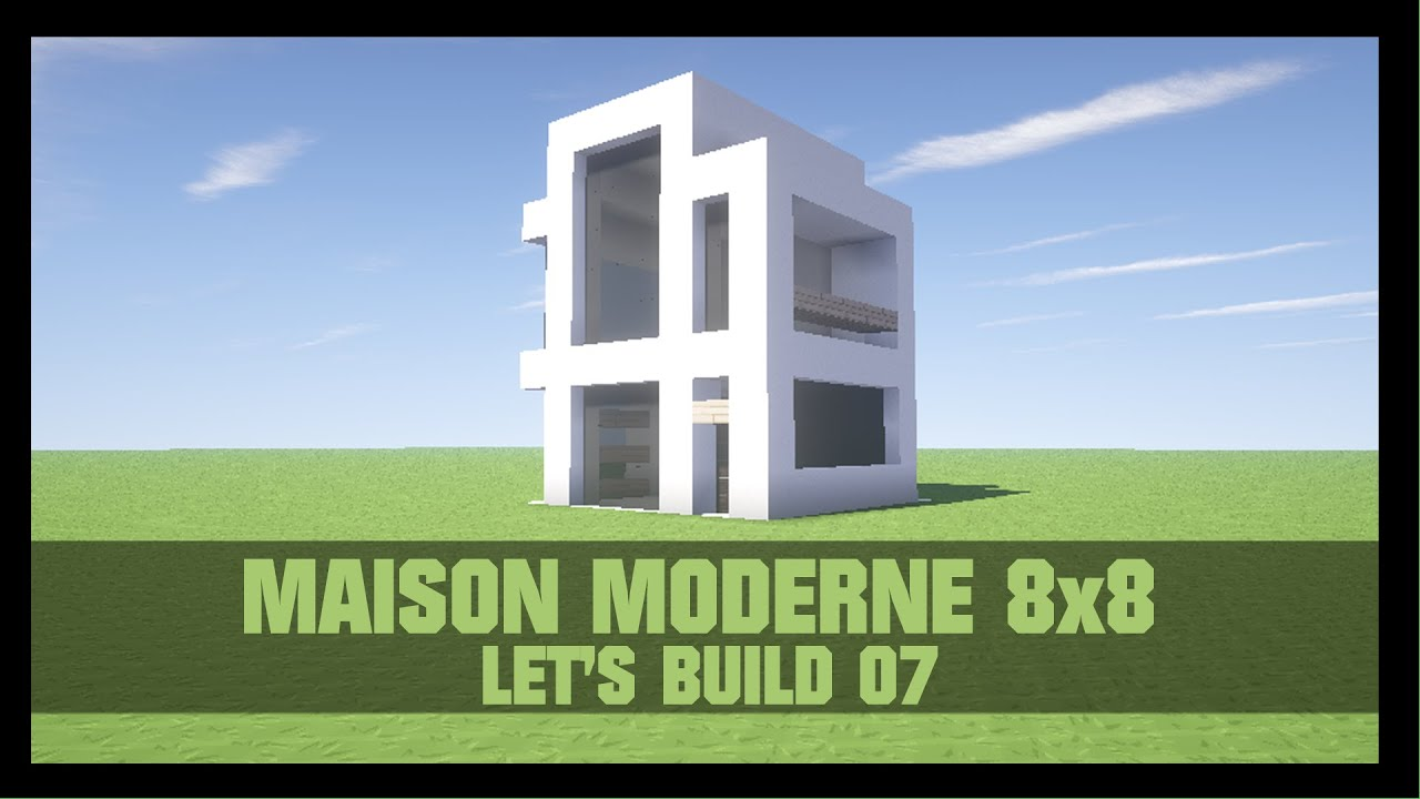 tuto comment construire une maison moderne 8x8 dans minecraft youtube. Black Bedroom Furniture Sets. Home Design Ideas