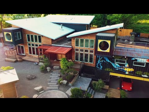 See beautiful shipping container home for sale in Washington