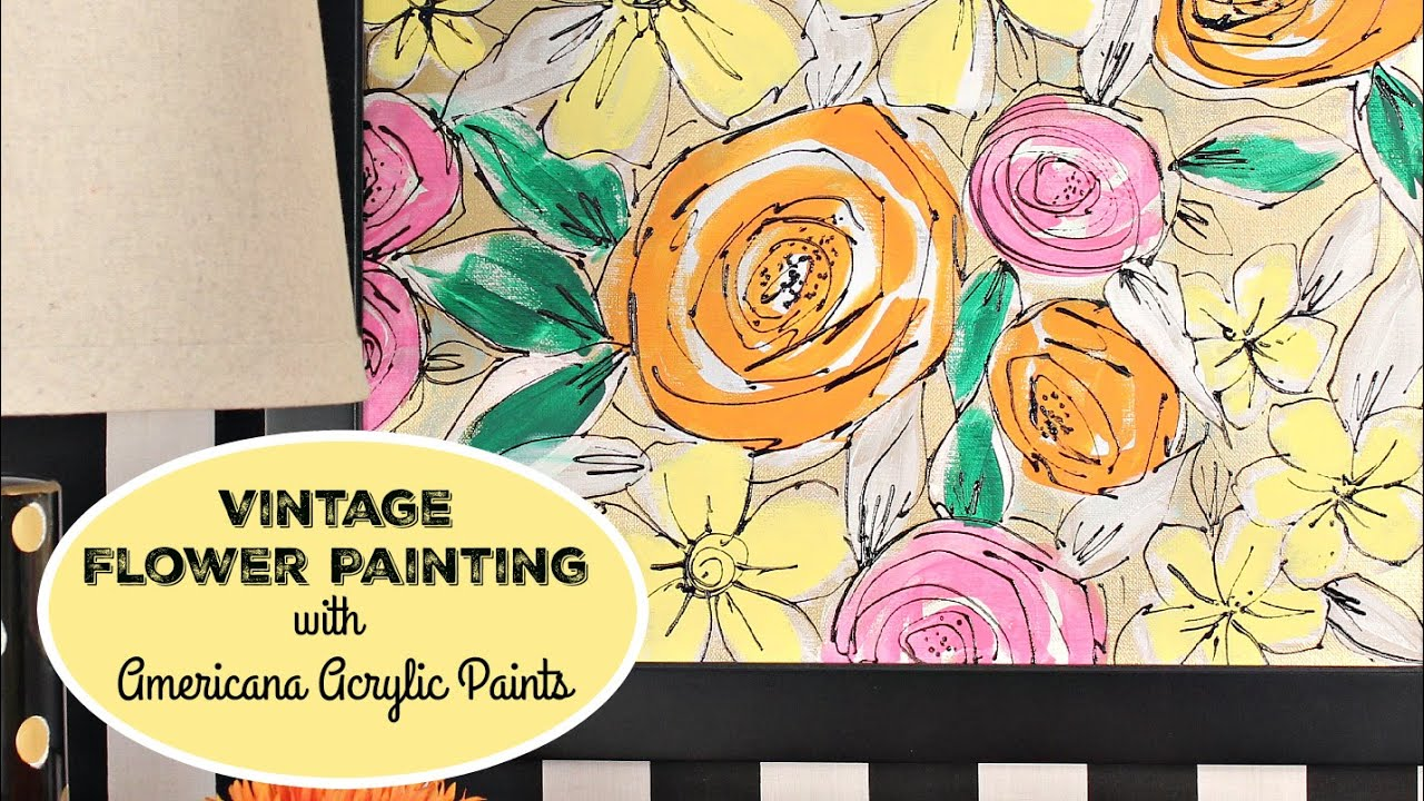 HOW TO: Vintage Flower Canvas - YouTube