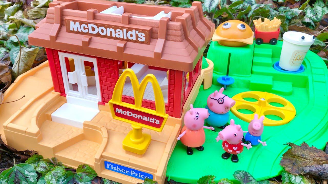 PEPPA PIG McDonald's Restaurant Toys Play Place ICE CREAM Treat Popular Videos for Kids