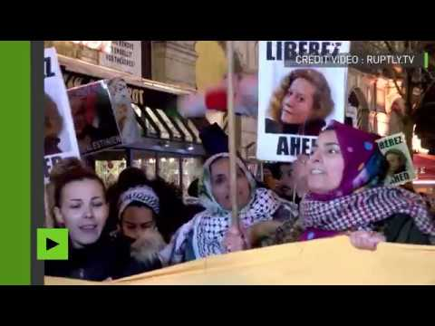 A Paris, les soutiens de la palestinienne Ahed Tamimi réclament à Israël...  via @YouTube - FestivalFocus
